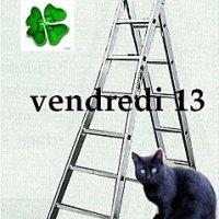 Un chat noir sous une échelle...